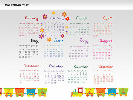 PowerPoint Calendar 2012, Slide 3, 00748, Timelines & Calendars — PoweredTemplate.com