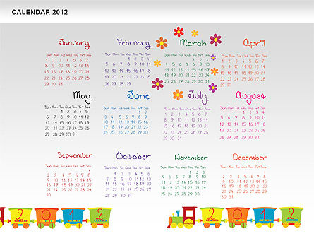 PowerPoint Calendar 2012, Slide 4, 00748, Timelines & Calendars — PoweredTemplate.com