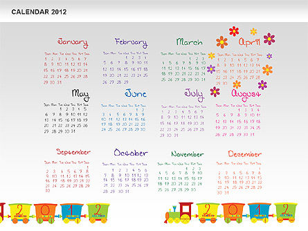 PowerPoint Calendar 2012 Slide 5