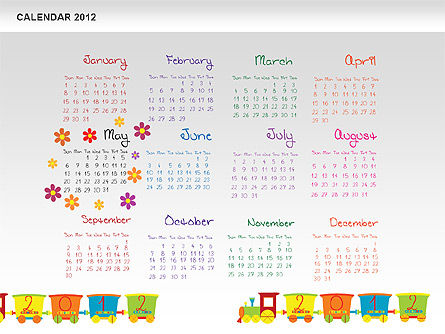 PowerPoint Calendar 2012 Slide 6