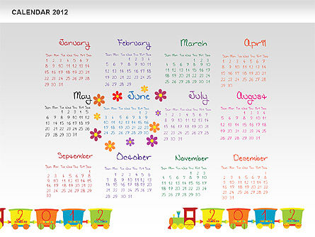PowerPoint Calendar 2012 Slide 7