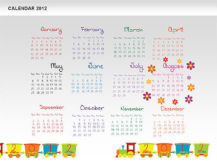 PowerPoint Calendar 2012 Slide 9