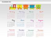 Timelines & Calendars: PowerPoint Calendar 2012 #00748