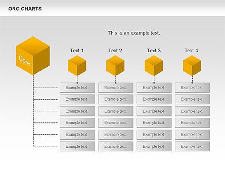 Organizational Chart with Cubes, Slide 4, 00749, Graph Charts — PoweredTemplate.com