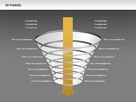 3D Funnel, Slide 13, 00750, Business Models — PoweredTemplate.com