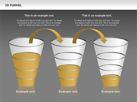 3D Funnel, Slide 14, 00750, Business Models — PoweredTemplate.com