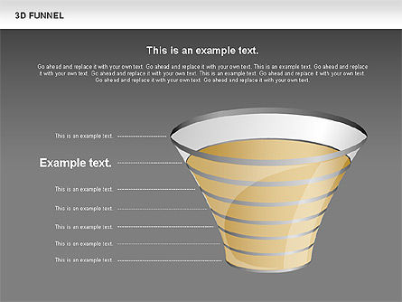 3D Funnel, Slide 16, 00750, Business Models — PoweredTemplate.com