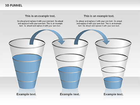 3D Funnel, Slide 3, 00750, Business Models — PoweredTemplate.com