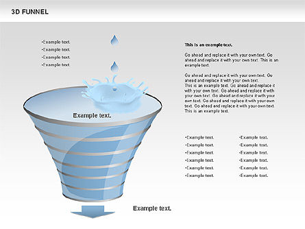3D Funnel, Slide 8, 00750, Business Models — PoweredTemplate.com