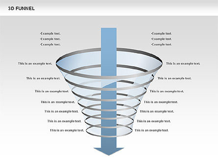 3D Funnel, Slide 9, 00750, Business Models — PoweredTemplate.com