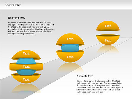 3D Sphere, Slide 10, 00751, Business Models — PoweredTemplate.com