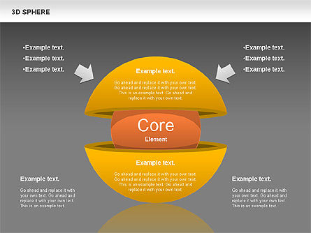 3D Sphere, Slide 14, 00751, Business Models — PoweredTemplate.com