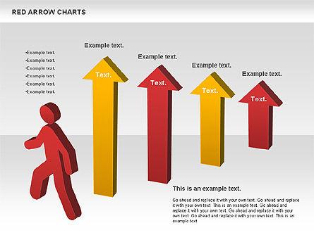Red Arrow Chart, Slide 10, 00753, Stage Diagrams — PoweredTemplate.com