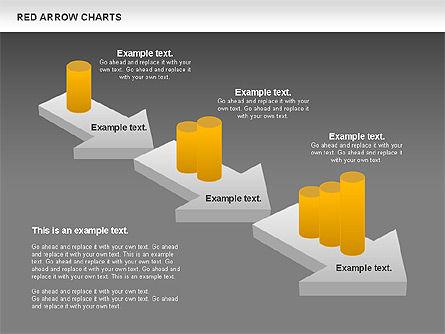 Red Arrow Chart, Slide 12, 00753, Stage Diagrams — PoweredTemplate.com