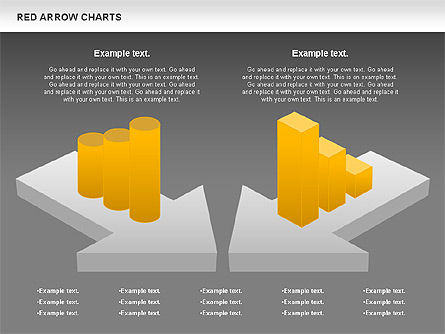 Red Arrow Chart, Slide 13, 00753, Stage Diagrams — PoweredTemplate.com
