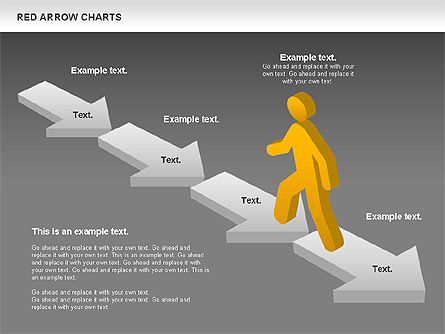 Red Arrow Chart, Slide 14, 00753, Stage Diagrams — PoweredTemplate.com