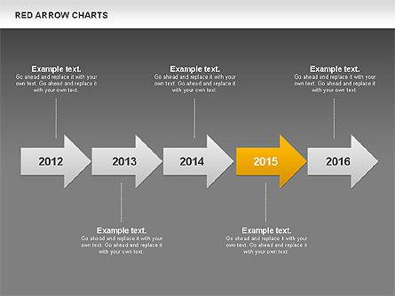 Red Arrow Chart, Slide 15, 00753, Stage Diagrams — PoweredTemplate.com