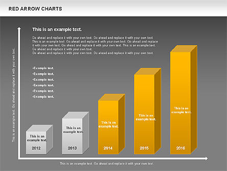Red Arrow Chart, Slide 16, 00753, Stage Diagrams — PoweredTemplate.com