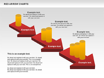 Red Arrow Chart, Slide 2, 00753, Stage Diagrams — PoweredTemplate.com