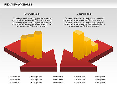 Red Arrow Chart, Slide 3, 00753, Stage Diagrams — PoweredTemplate.com