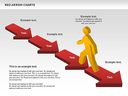Red Arrow Chart, Slide 4, 00753, Stage Diagrams — PoweredTemplate.com