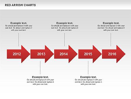 Red Arrow Chart, Slide 5, 00753, Stage Diagrams — PoweredTemplate.com
