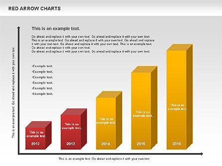 Red Arrow Chart, Slide 6, 00753, Stage Diagrams — PoweredTemplate.com