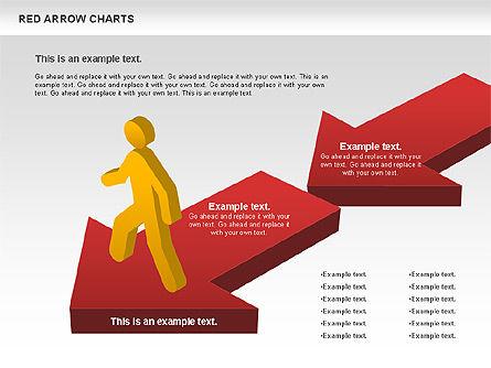 Red Arrow Chart, Slide 7, 00753, Stage Diagrams — PoweredTemplate.com