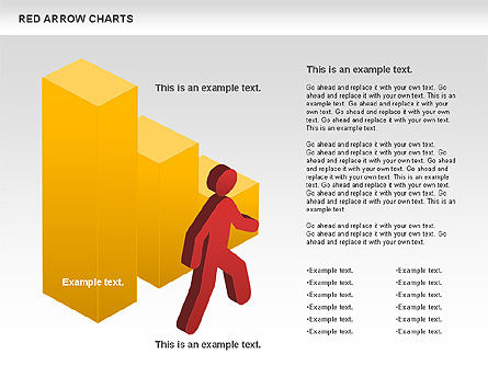 Red Arrow Chart, Slide 8, 00753, Stage Diagrams — PoweredTemplate.com