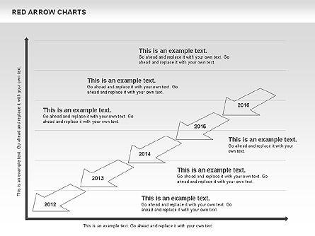 Red Arrow Chart, Slide 9, 00753, Stage Diagrams — PoweredTemplate.com