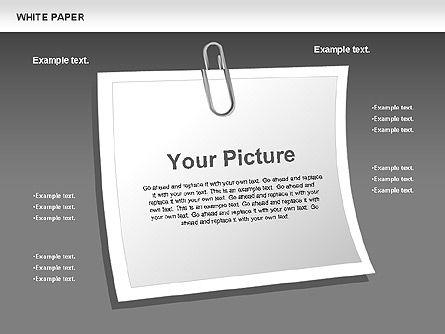 White Paper Shapes, Slide 10, 00754, Shapes — PoweredTemplate.com