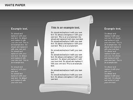 White Paper Shapes, Slide 12, 00754, Shapes — PoweredTemplate.com
