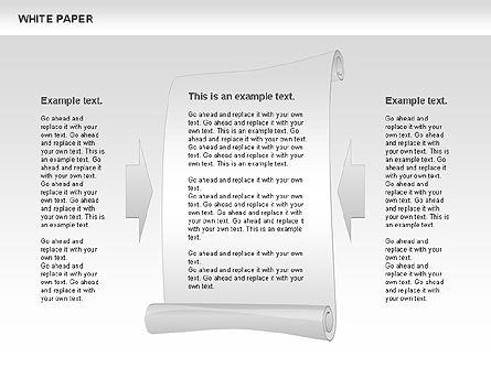 White Paper Shapes, Slide 5, 00754, Shapes — PoweredTemplate.com