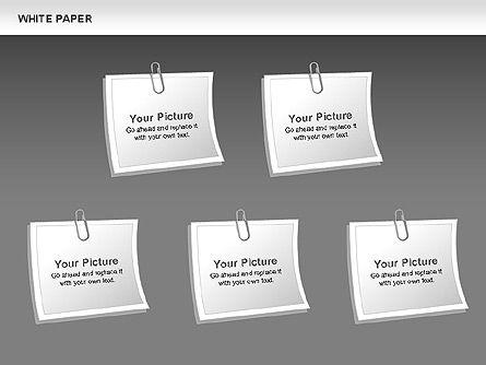 White Paper Shapes, Slide 8, 00754, Shapes — PoweredTemplate.com