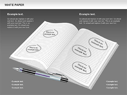 White Paper Shapes, Slide 9, 00754, Shapes — PoweredTemplate.com
