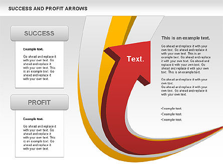 Success and Profit Arrows, 00755, Shapes — PoweredTemplate.com