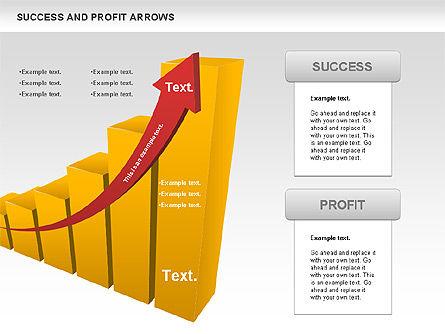 Success and Profit Arrows, Slide 10, 00755, Shapes — PoweredTemplate.com