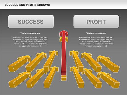 Success and Profit Arrows, Slide 11, 00755, Shapes — PoweredTemplate.com