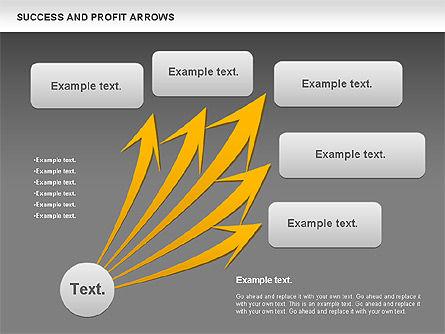 Success and Profit Arrows, Slide 12, 00755, Shapes — PoweredTemplate.com