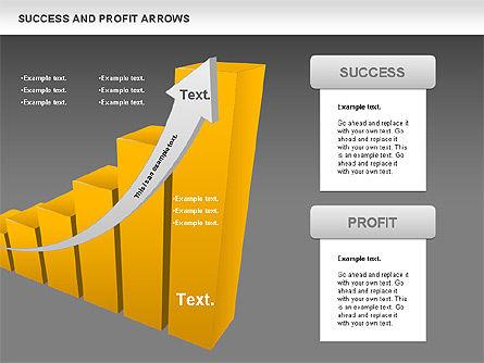 Success and Profit Arrows, Slide 13, 00755, Shapes — PoweredTemplate.com