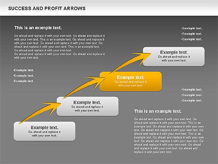 Success and Profit Arrows, Slide 14, 00755, Shapes — PoweredTemplate.com