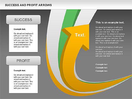Success and Profit Arrows, Slide 15, 00755, Shapes — PoweredTemplate.com
