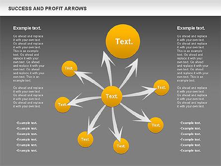Success and Profit Arrows, Slide 16, 00755, Shapes — PoweredTemplate.com