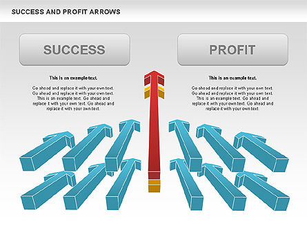 Success and Profit Arrows, Slide 2, 00755, Shapes — PoweredTemplate.com