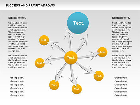 Success and Profit Arrows, Slide 4, 00755, Shapes — PoweredTemplate.com