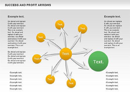 Success and Profit Arrows, Slide 5, 00755, Shapes — PoweredTemplate.com
