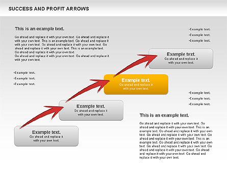 Success and Profit Arrows, Slide 8, 00755, Shapes — PoweredTemplate.com