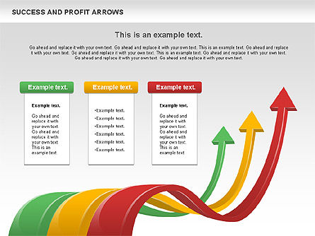 Success and Profit Arrows, Slide 9, 00755, Shapes — PoweredTemplate.com