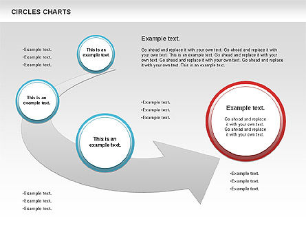 Charts with Circles, 00756, Shapes — PoweredTemplate.com