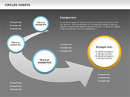 Charts with Circles, Slide 11, 00756, Shapes — PoweredTemplate.com
